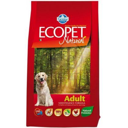 Hrana uscata pentru caini Ecopet Natural Adult, 12 + 5 Kg