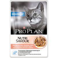Hrana umeda pentru pisici, Pro Plan Housecat Nutrisavour cu Somon, 85 g