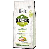 Hrana uscata pentru caini, Brit Fresh Rata si Mei, Active Adult, 12 kg