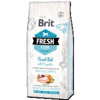 Hrana uscata pentru caini, Brit Fresh Peste si Dovleac, Adult Large, 12 kg