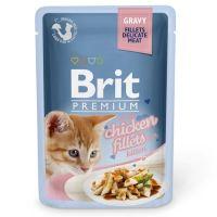 Hrana umeda pentru pisici, Brit Cat Delicate Kitten Pui in sos, 85 g