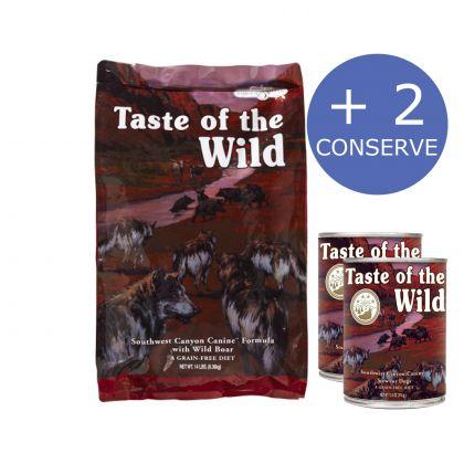 Taste of the Wild Southwest Canyon Canine Formula, 12.2 Kg + 2 Conserve Taste of the Wild