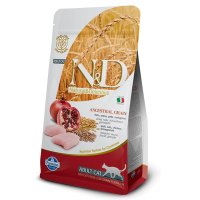 Hrana uscata pentru pisici, N&D Low Grain Adult Cat Pui si Rodie, 1.5 kg