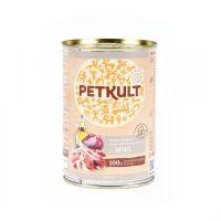 Hrana umeda pentru caini, Petkult Adult Dog Miel, 400g
