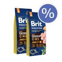 Pachet economic: Brit Premium by Nature Junior M, 2 x 15 Kg