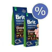 Pachet economic: Brit Premium by Nature Adult XL, 2 x 15 Kg