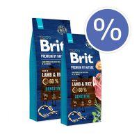 Pachet economic: Brit Premium by Nature Sensitive Lamb, 2 x 15 Kg