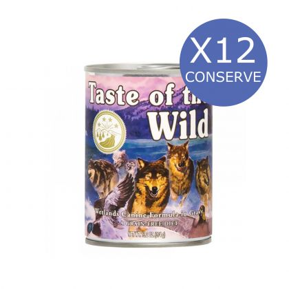 12 x Taste of the Wild Wetlands Canine, 390g