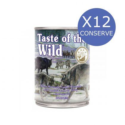 12 x Taste of the Wild Sierra Mountain, 390g