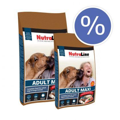 Pachet economic: Nutraline Dog Adult Maxi, 2 x 12.5 Kg