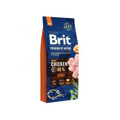 Hrana uscata pentru caini, Brit Premium By Nature Sport, 15 Kg + 3 Kg Gratis