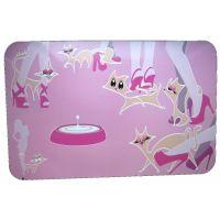 Suport pentru castroane Pisici, Pet Expert Glamour Pink 43x28 cm