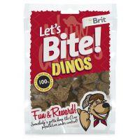 Recompense pentru caini Brit Let's Bite Dinos, 150g