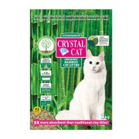 Asternut igienic din bambus pentru pisici, Crystal Cat Bamboo, 3 kg