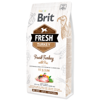 Hrana uscata pentru caini, Brit Fresh Curcan si Mazare, Adult Fit & Slim, 2.5 kg