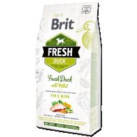 Hrana uscata pentru caini, Brit Fresh Rata si Mei, Active Adult, 2.5 kg
