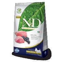 Hrana uscata pentru caini, N&D Grain Free Adult Mini, Miel si Afine, 7 kg