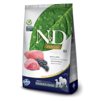 Hrana uscata pentru caini, N&D Grain Free Adult Medium si Maxi, Miel si Afine, 12 kg
