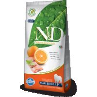 Hrana uscata pentru caini, N&D Grain Free Adult Maxi, Peste si Portocale, 12 kg