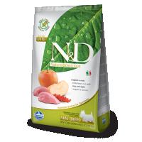 Hrana uscata pentru caini N&D Grain Free Adult Mini, Mistret si Mar, 2.5 kg