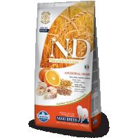 Hrana uscata pentru caini, N&D Low Grain Adult Maxi, Peste si Portocale, 12 Kg