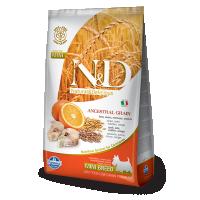 Hrana uscata pentru caini, N&D Low Grain Adult Mini cu Peste si Portocale, 7 Kg