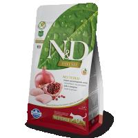 Hrana uscata pentru pisici, N&D Grain Free Cat Adult Neutered cu Pui si Rodie, 1.5 Kg