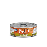 Hrana umeda pentru pisici, Conserva N&D Cat cu Rata si Dovleac, 80 g