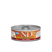 Hrana umeda pentru pisici, Conserva N&D Cat cu Prepelita si Dovleac, 80 g