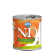 Hrana umeda pentru caini, Conserva N&D Dog cu Mistret, Dovleac si Mere, 285 g