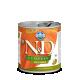 Hrana umeda pentru caini, Conserva N&D Dog cu Rata si Dovleac, 285 g
