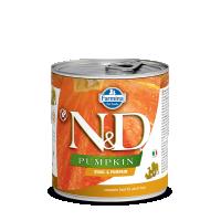 Hrana umeda pentru caini, Conserva N&D Dog cu Prepelita si Dovleac, 285 g