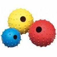 Pet expert jucarie minge cauciuc cu clopotel, 7 cm