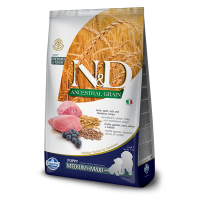 N&D Low Grain Puppy Medium and Maxi, Miel si Afine, 12 kg