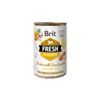 Hrana umeda pentru caini, Conserva Brit Fresh cu Pui si Cartofi Dulci, 400 g