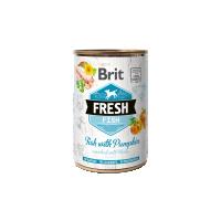 Hrana umeda pentru caini, Conserva Brit Fresh cu Peste si Dovleac, 400 g