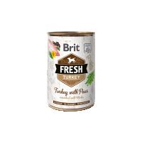 Hrana umeda pentru caini, Conserva Brit Fresh cu Curcan si Mazare, 400 g