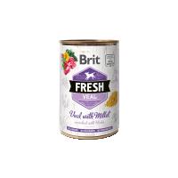 Hrana umeda pentru caini, Conserva Brit Fresh cu Vitel si Mei, 400 g