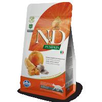 Hrana uscata pentru pisici, N&D Cat Adult cu Hering, Dovleac si Portocale, 1.5 kg