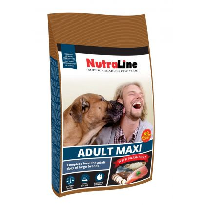 Hrana uscata pentru caini Nutraline Dog Adult Maxi, 15 Kg