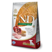 Hrana uscata pentru caini, N&D Low Grain Puppy Mini, Pui si Rodie, 7 Kg