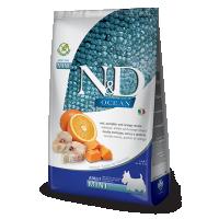 N&D Ocean Grain Free Adult Mini, Cod Dovleac si Portocale, 7 Kg
