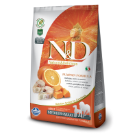 Hrana uscata pentru caini N&D Grain Free Adult Medium si Maxi, Cod, Dovleac si Portocale, 12 Kg