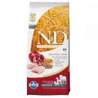 Hrana uscata pentru caini N&D Low Grain Adult Medium Breed, Pui si Rodie, 2.5 kg