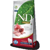 N&D Grain Free Adult Maxi, Pui si Rodie, 12 kg