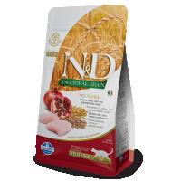 Hrana uscata pentru pisici, N&D Low Grain Adult Cat Neutered cu Pui si Rodie, 1.5 kg