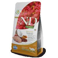 Hrana uscata pentru pisici, N&D Cat Quinoa Skin & Coat cu Prepelita, 1.5 kg