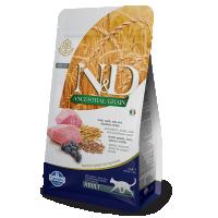 Hrana uscata pentru pisici, N&D Low Grain Adult Cat cu Miel si Afine, 1.5 Kg