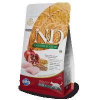 Hrana uscata pentru pisici N&D Low Grain Adult Cat Pui si Rodie, 1.5 Kg