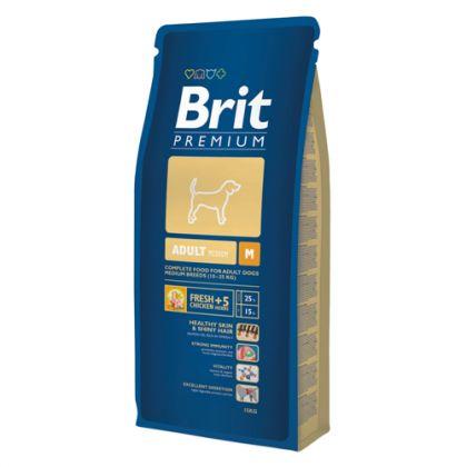Hrana uscata pentru caini Brit Premium Adult M, 15 Kg